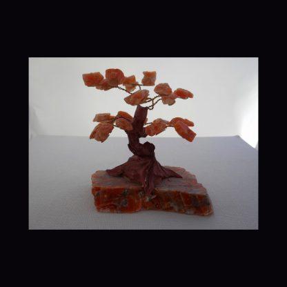 Arbre de Vie en Pierre de Calcite Orange