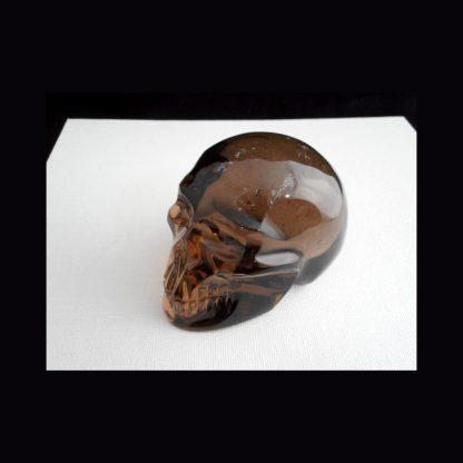 Crâne en Pierre de Quartz Fumé