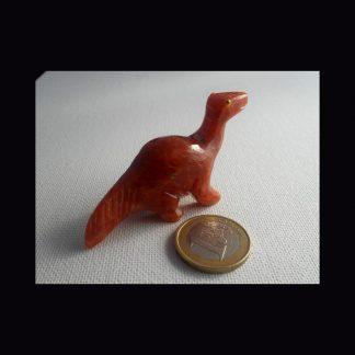 Dinosaure en Pierre de Calcite Orange