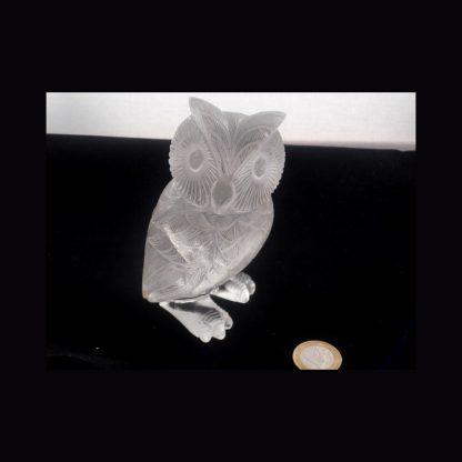 Chouette en Cristal de roche