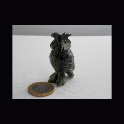 Figurine Chouette en Pierre de Calcite Blanche
