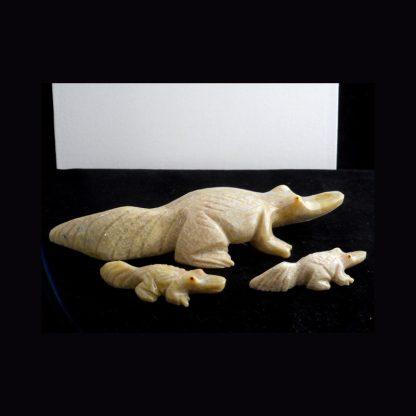 Crocodile en Pierre de Dolomite