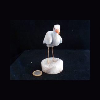 Oiseau en Pierre de Quartz Bleu