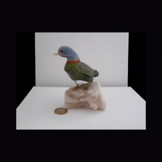 Oiseau en Pierre de Serpentine Verte