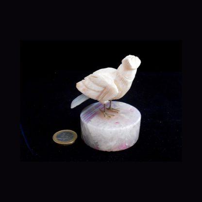 Oiseau en Pierre de Calcite Blanche