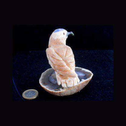 Oiseau en Pierre de Calcite