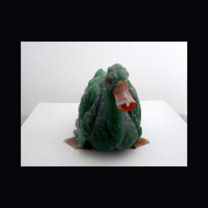Canard en Pierre de Béryl Vert