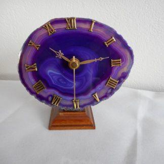 Pendule,Horloge en Pierre d'Agate